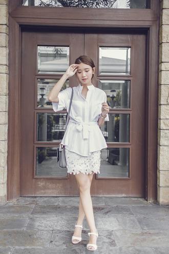 tricia gosingtian blogger top skirt shoes bag