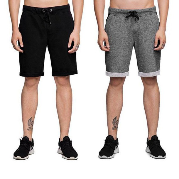 Shorts: short shorts, grey shorts, black shorts, black, grey ...