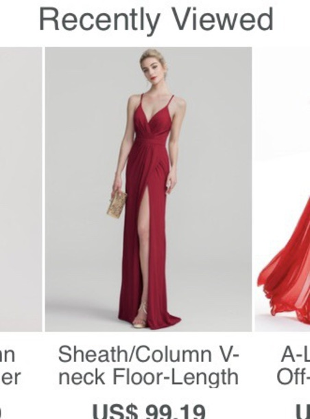 dress red gown gown slit dress