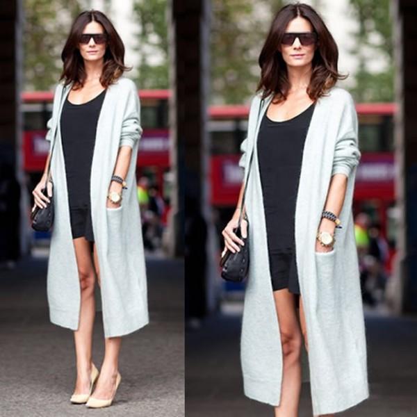 Cardigan: duster coat, maxi cardigan, autumn/winter - Wheretoget