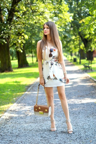 only my fashion style blogger dress bag summer dress summer outfits sandals