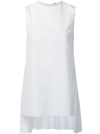tunic sleeveless back white top