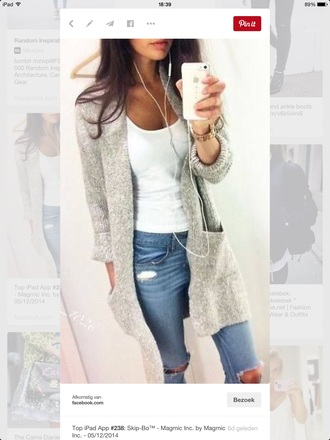 jacket grey gray wool vest boucle