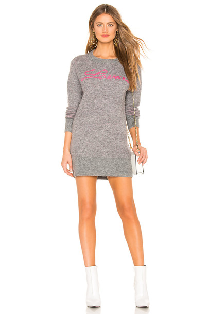 Lovers + Friends For Lovers Sweater Dress in gray