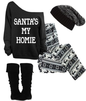 leggings sweater