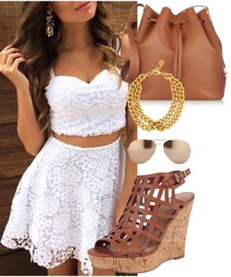 jumpsuit lace white skirt crop shirt flowers summer pretty free shipping £ pounds britain short detail freeshipping spaghetti strap