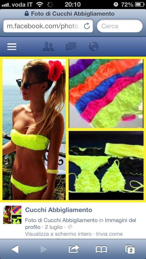 swimwear bikini neon fluo