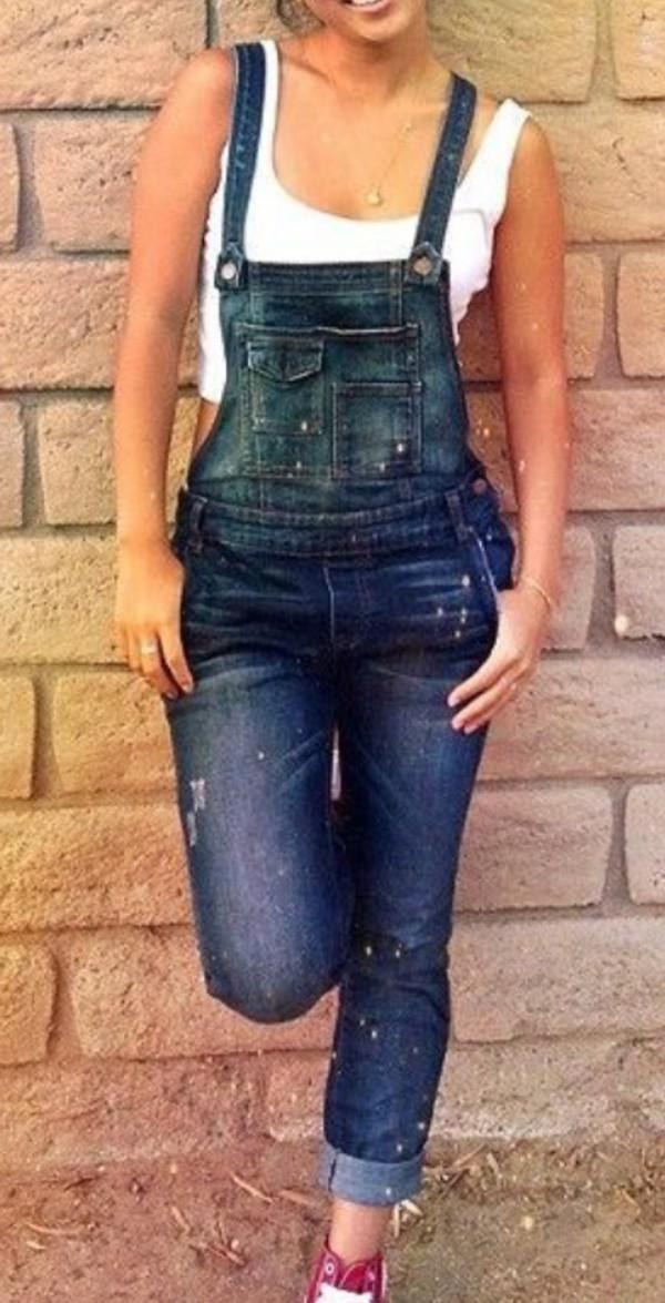 1241624fa69d Amazon.com  haoduoyi Womens Fashion Denim Rompers Skinny Jeans ...