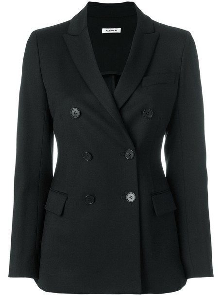 P.A.R.O.S.H. blazer double breasted women spandex black wool jacket