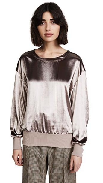 Rag & Bone pullover velvet sweater