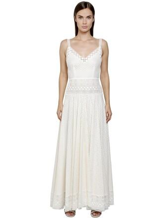 dress lace dress geometric lace cotton