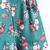 Green Spaghetti Strap Vintage Floral Jumpsuit - Sheinside.com