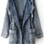 ROMWE | Fading Hooded Denim Coat, The Latest Street Fashion