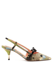 jacquard,pumps,floral,beige,shoes