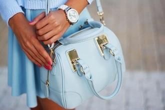 bag blue elegant handbag cute lovely mothers day gift idea pastel bag pastel pastel blue light blue shoulder bag blue bag