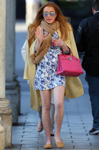 dress mini dress flats lindsay lohan spring outfits shoes