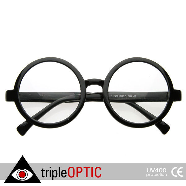 Glasses Frames With Clear Lenses : Vintage Inspired Eyewear Round Circle Clear Lens Glasses ...