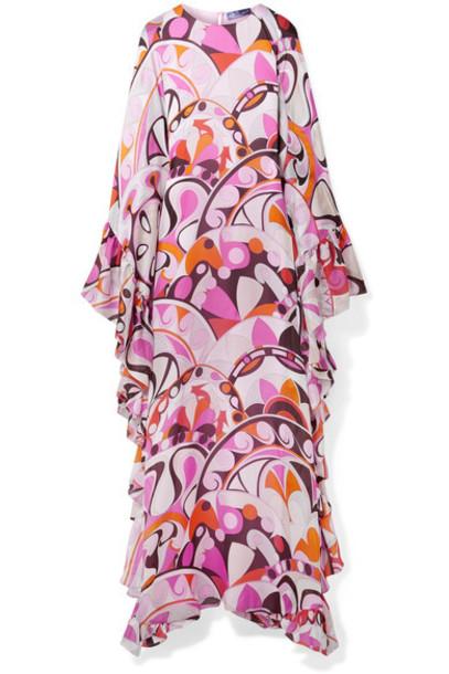 dress maxi dress maxi silk pink