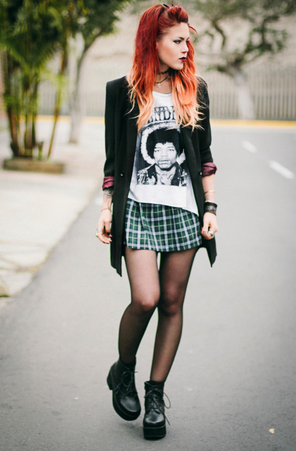 le happy t-shirt skirt jacket shoes