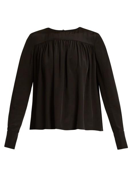Diane Von Furstenberg blouse silk black top