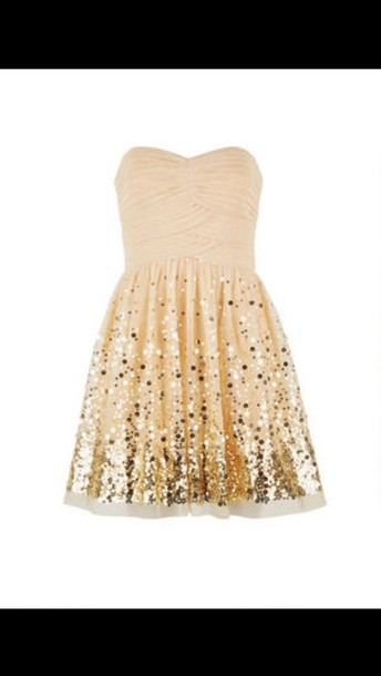 dress gold sequins