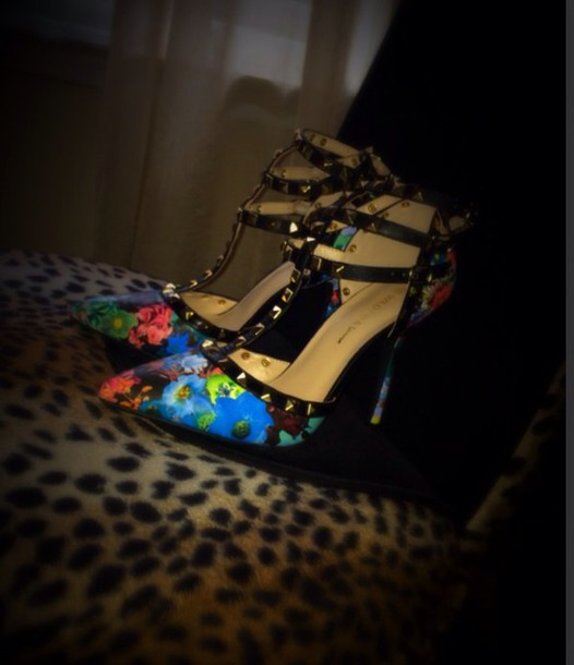 shoes floral high heels high heels high heels fashion colorful shoes heels with straps heels