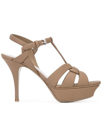 women classic sandals leather brown shoes