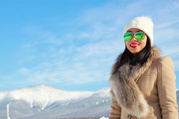 i am khatu coat jeans shoes hat sunglasses bag