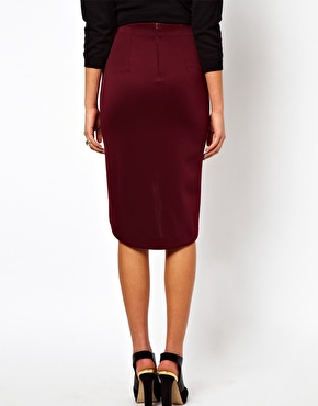 ASOS | ASOS Pencil Skirt in Scuba with Curved Hem at ASOS