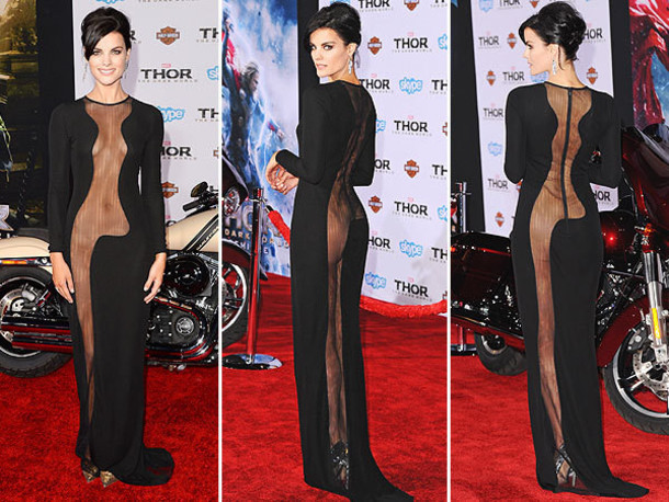 dress black dress see through dress beautiful classy jamie alexander