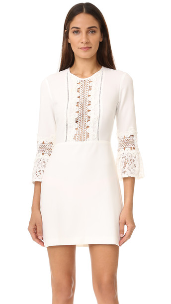 Wayf Somerset Lace Trim Dress - Ivory