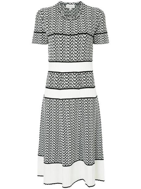 Ck Calvin Klein dress women jacquard white