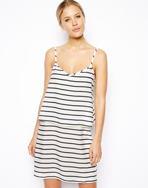 ASOS | ASOS Double Layer Stripe Cami Dress at ASOS