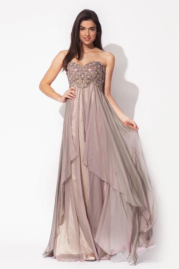 dress long prom dress prom dress blush dress chiffon dress beading