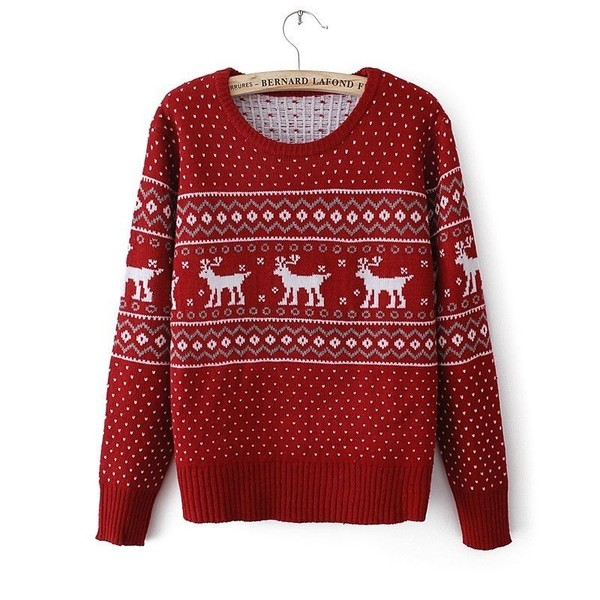 sweater red deer christmas sweater christmas red christmas sweater deer weave tracery christmas design