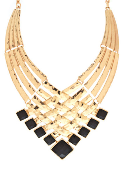 jewels necklace necklaces big necklace gold necklace black