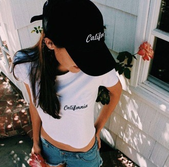 t-shirt girl girly girly wishlist california shirt white white shirt white t-shirt t shirt print