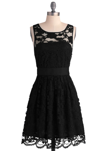 BB Dakota When the Night Comes Dress in Noir | Mod Retro Vintage Dresses | ModCloth.com