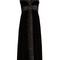 Bow-front strapless silk-faille trim velvet dress