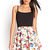 Pleated Floral Skater Skirt | FOREVER21 - 2000083294