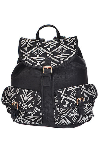 bag balck pattern backpack