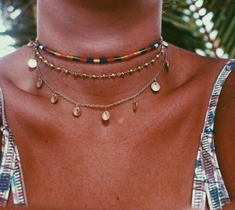 jewels jewelry necklace choker necklace colorful