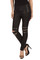 Effect black zipper legging
