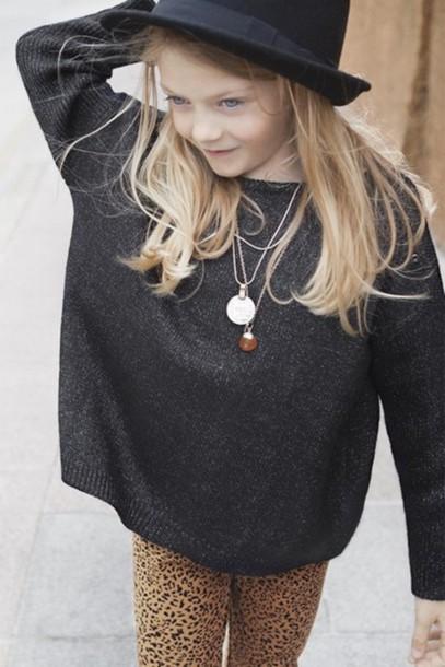 leopard print leopard print kids fashion leggings pants sweater jewels