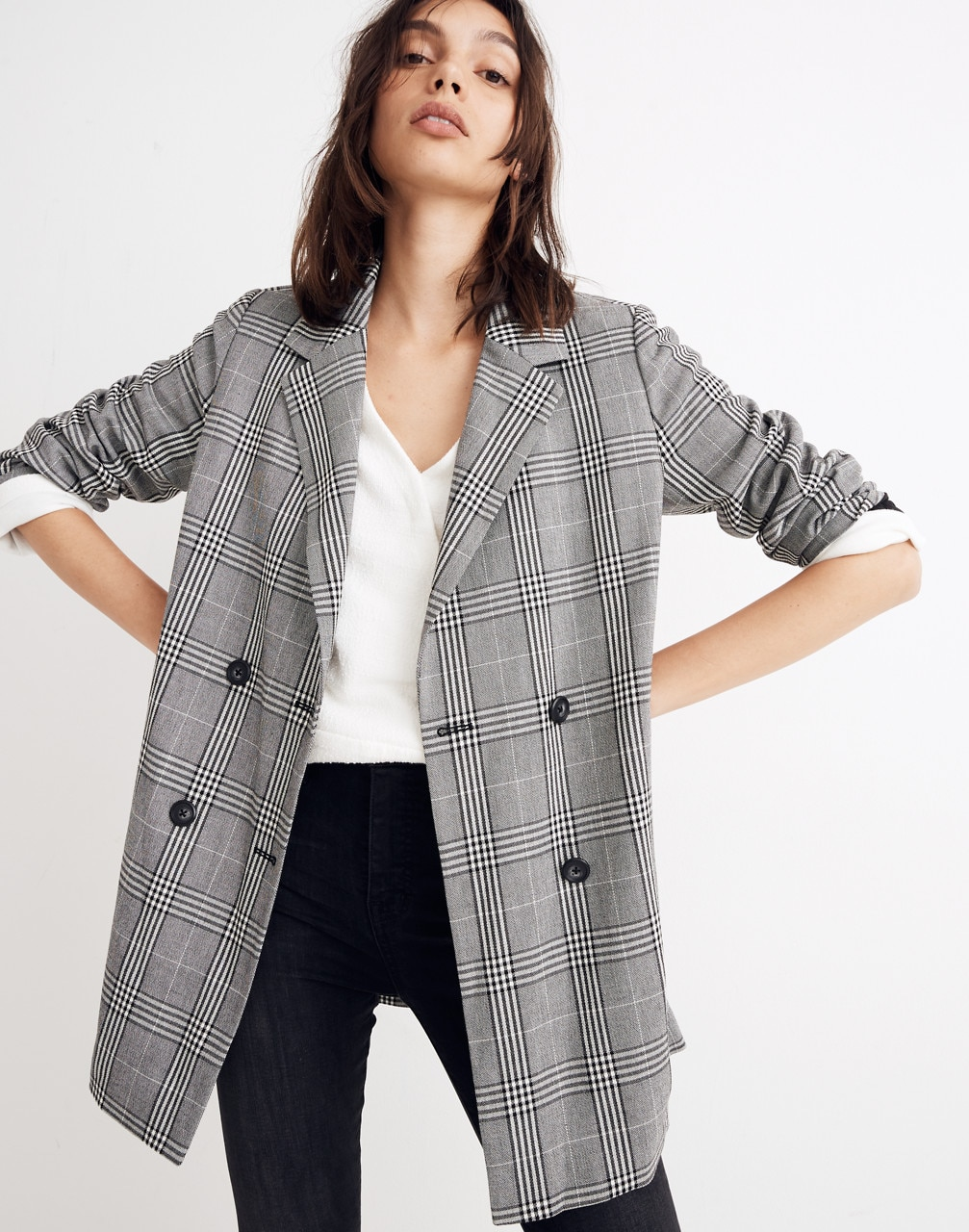 Caldwell Double-Breasted Blazer in Plaid
