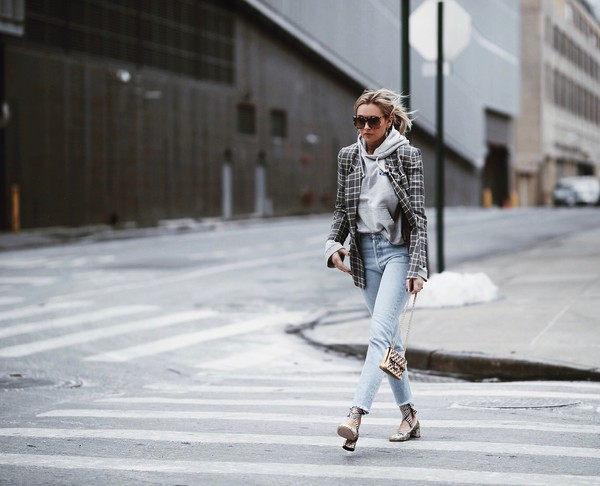 we wore what blogger jacket shoes bag pants t-shirt hoodie grey jacket mid heel pumps winter outfits