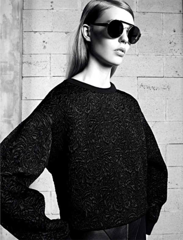sweater sandro fashion lookbook sunglasses