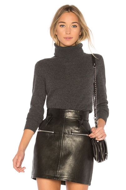 White + Warren turtleneck charcoal sweater