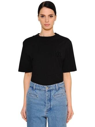 t-shirt shirt oversized cotton black top