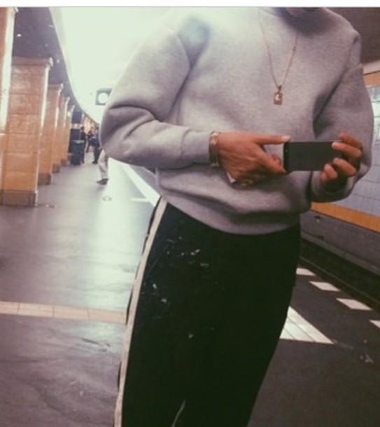 sweater grey neoprene
